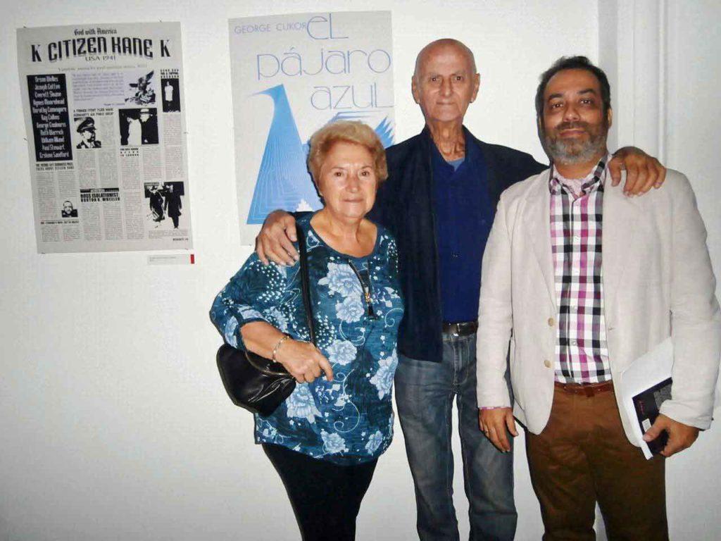 Rafael Morante (centro) con Mari Rico y su biógrafo, Jorge Luis Rodríguez.