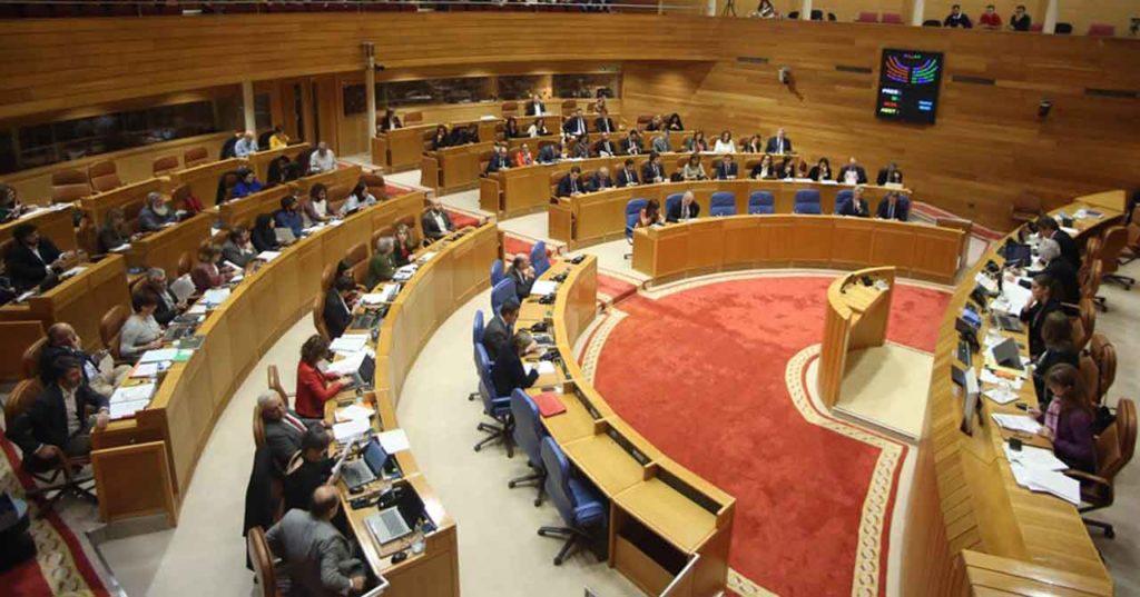Pleno del Parlamento de Galicia del pasado 5 de diciembre.