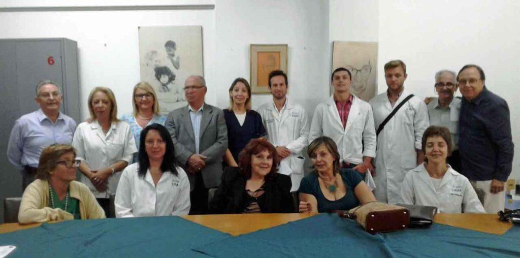 Directivos, medicos y tecnicos de la Fundacion Dr. Caritat.