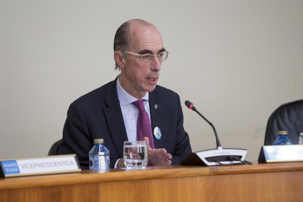 El conselleiro de Sanidade, Jesús Vázquez Almuiña, en su comparecencia.