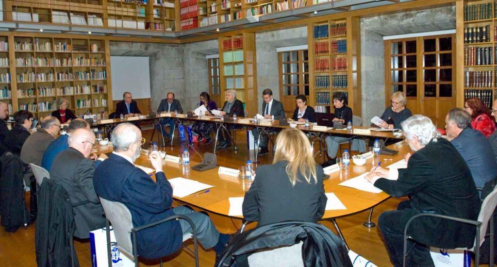 Reunión plenaria del Consello da Cultura Galega celebrada el pasado 10 de enero.