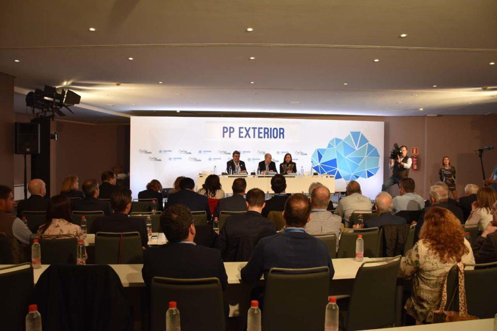 Imagen de la última reunión del Consejo de Españoles Residentes en el Exterior celebrada en abril de 2018 en la Convención nacional del PP en Sevilla