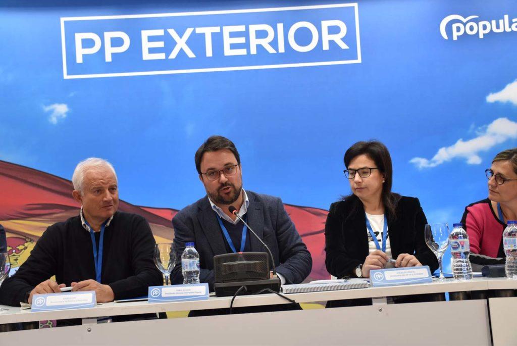 El presidente del Partido Popular de Canarias, Asier Antona, durante su intervención.