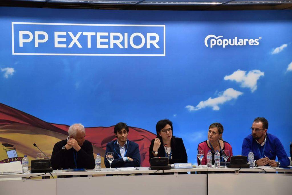 La secretaria de Emigración del PP, Ana Vázquez, en su discurso de cierre de la reunión del Consejo de Españoles Residentes en el Exterior.
