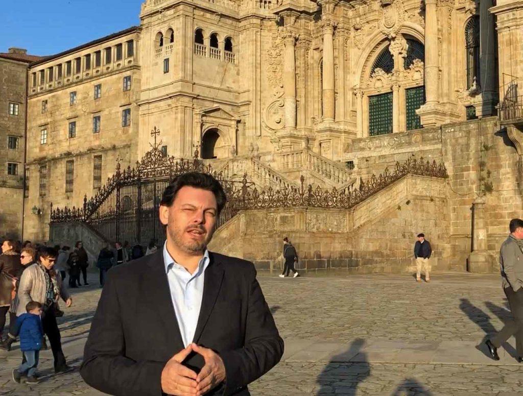 Un momento del mensaje de Antonio Rodríguez Miranda.