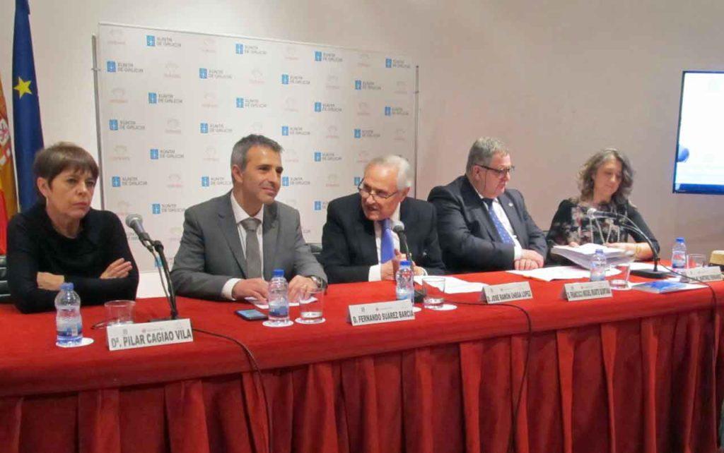 Pilar Cagiao, Fernando Suárez Barcia, José Ramón Ónega, Francisco Miguel Iriarte Quintana y Ana María Martínez Fernández.
