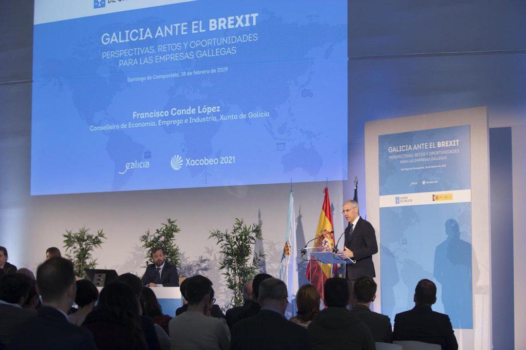 Francisco Conde inauguró la jornada 'Galicia ante el brexit: perspectivas, retos y oportunidades para las empresas gallegas'.