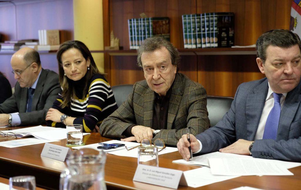 El vicepresidente De Santiago-Juárez en la reunión del Consejo de Cooperación Local.