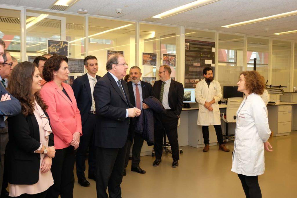 El presidente Herrera visitó  el Centro Nacional de Investigación sobre la Evolución Humana (Cenieh) tras la firma del convenio.