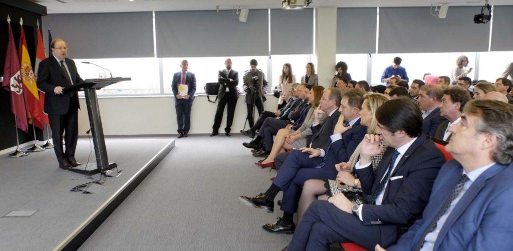 El presidente Juan Vicente Herrera, durante su intervención en la Jornada de presentación del Cybersecurity Innovation Hub.