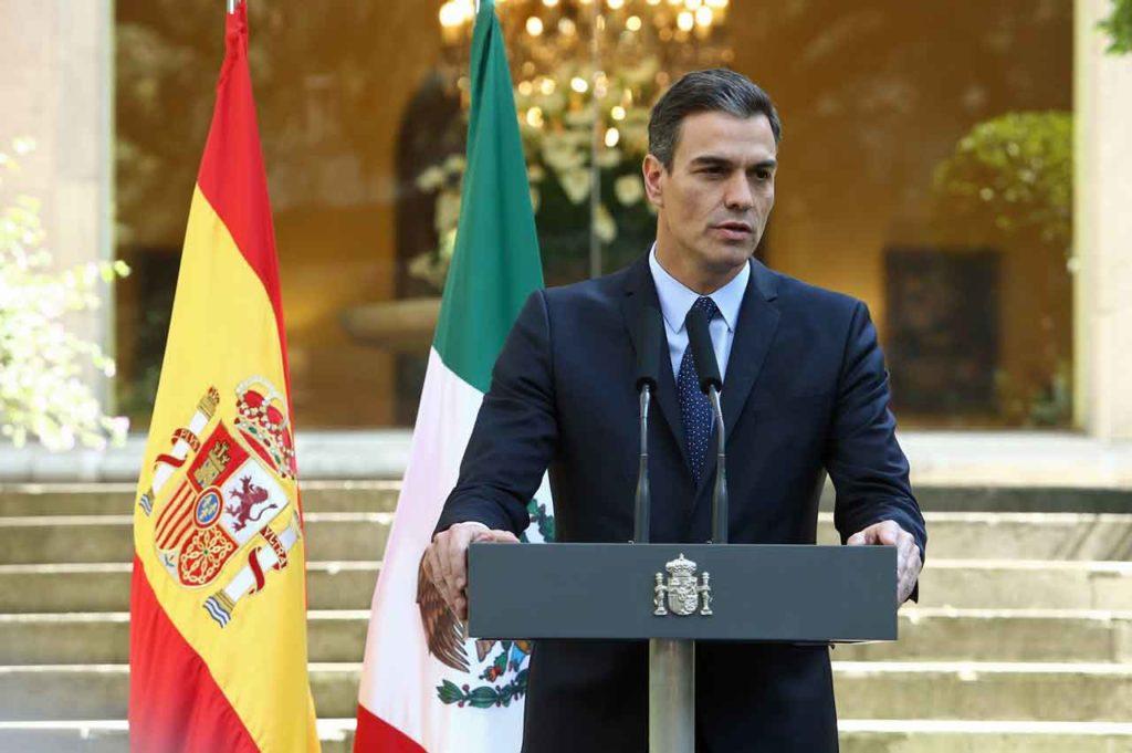 Pedro Sánchez en la Embajada de España en Ciudad de México.
