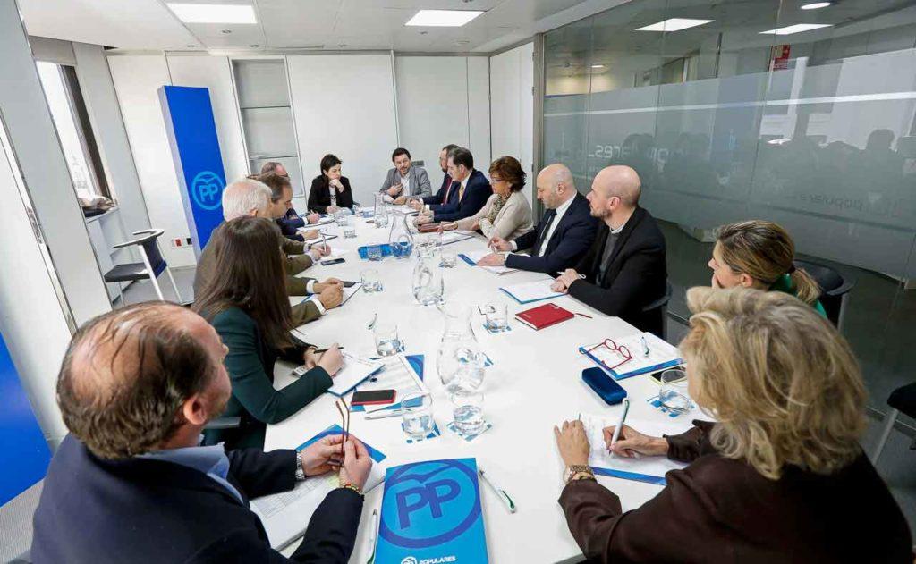 Reunión de los responsables autonómicos de emigración del PP.
