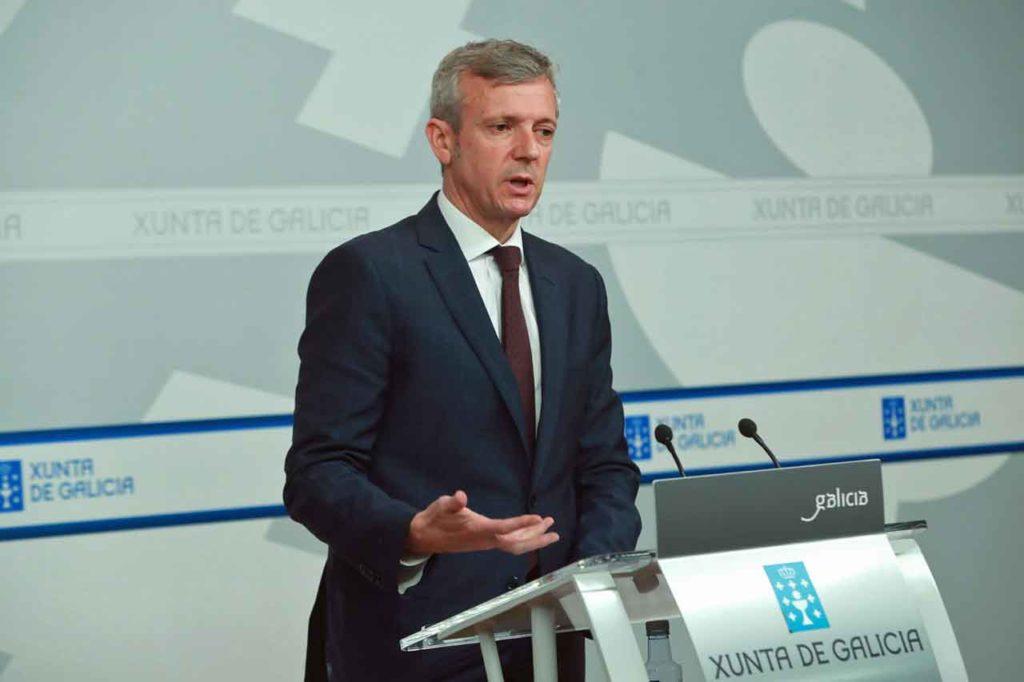 Alfonso Rueda en la rueda de prensa posterior a la reunión del Consello de la Xunta del pasado 7 de febrero.