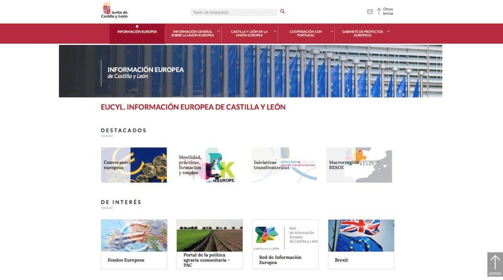 Página de acceso al portal web EUCyL.