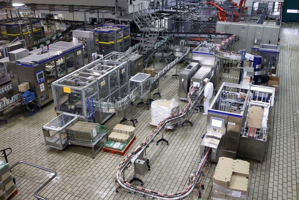 Interior de una fábrica agroalimentaria, un sector de importancia creciente en las ventas al exterior de Galicia.