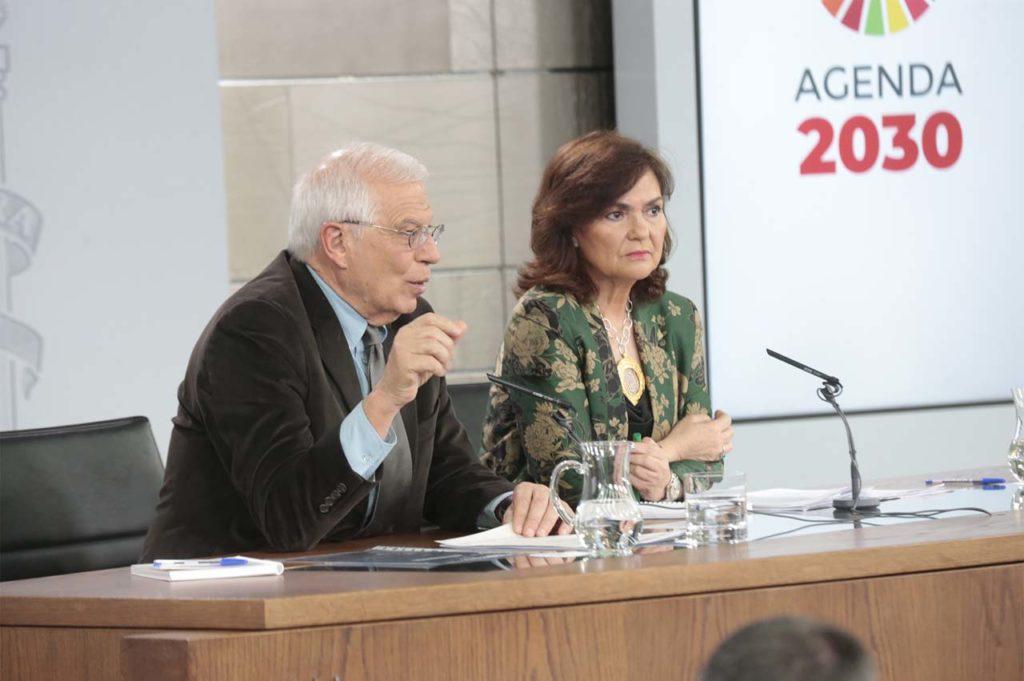 El ministro de Exteriores, Josep Borrell, explica las medidas ante un brexit sin acuerdo.