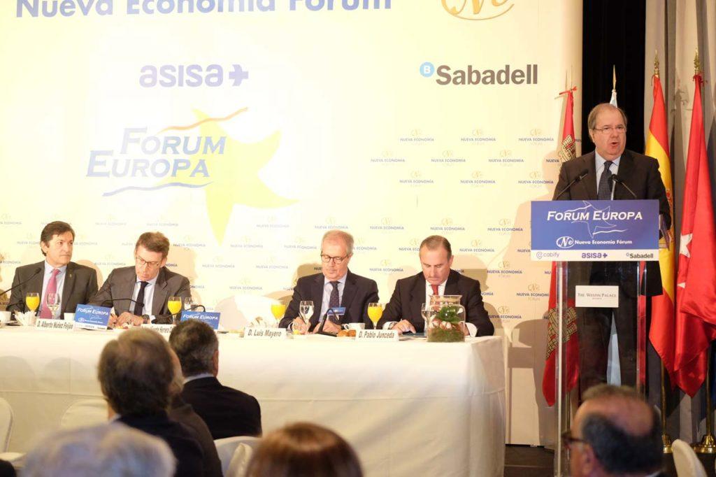 Intervención del presidente de Castilla y León, Juan Vicente Herrera, en el acto ante los presidentes de Asturias, Javier Fernández; y Galicia, Alberto Núñez Feijóo.