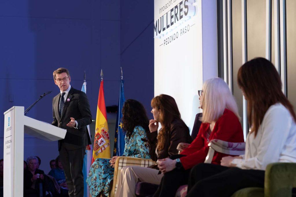 El presidente participó en el acto 'Innovación, talento y futuro. Mujeres pidiendo paso', con motivo del Día internacional de la Mujer.