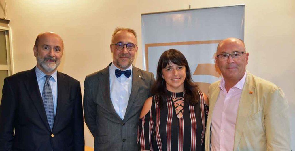 Jaime Lorenzo, Alberto Cacharrón, Sandra Canedo y Vicente Pecino.