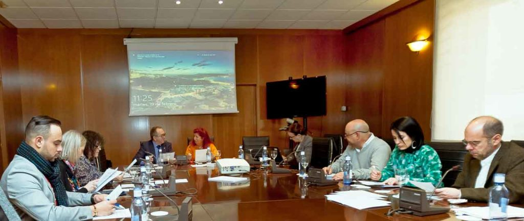 Un momento de la reunión de trabajo de la Comisión de Jóvenes y Mujeres del CGCEE.