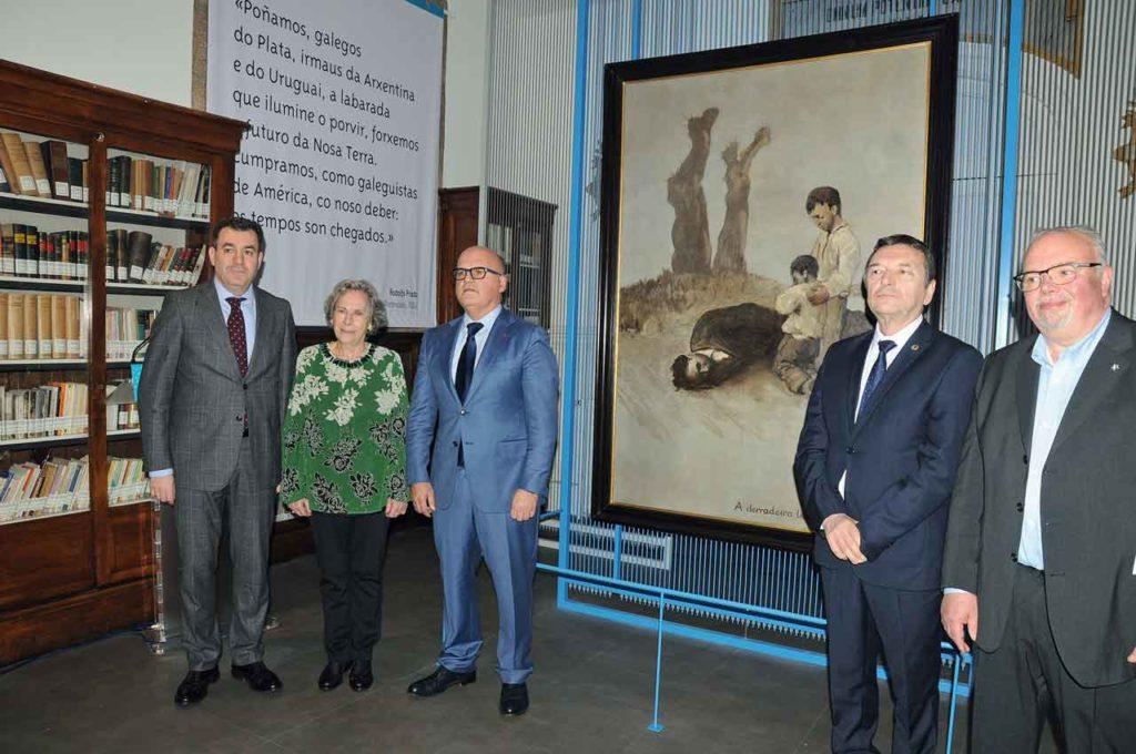 Román Rodríguez, Amalia Bóveda, Manuel Baltar, José María Vila Alén y Luis González Tosar.