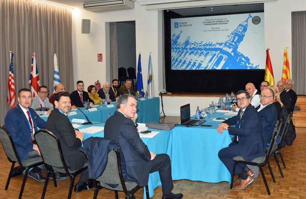 Última reunión de la Comisión Delegada del Consello de Comunidades Galegas celebrada el pasado mes de diciembre en Barcelona.