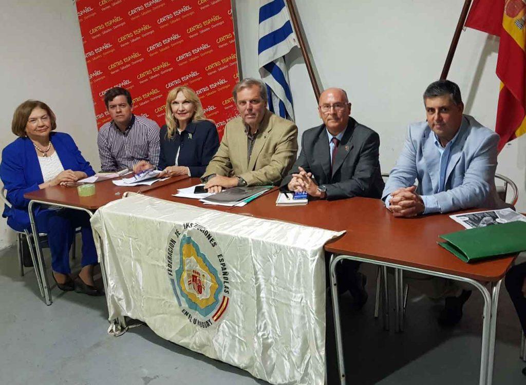Directiva de la FIEU, en el centro su presidente, Jorge Torres, y a su izquierda Vicente Pecino.