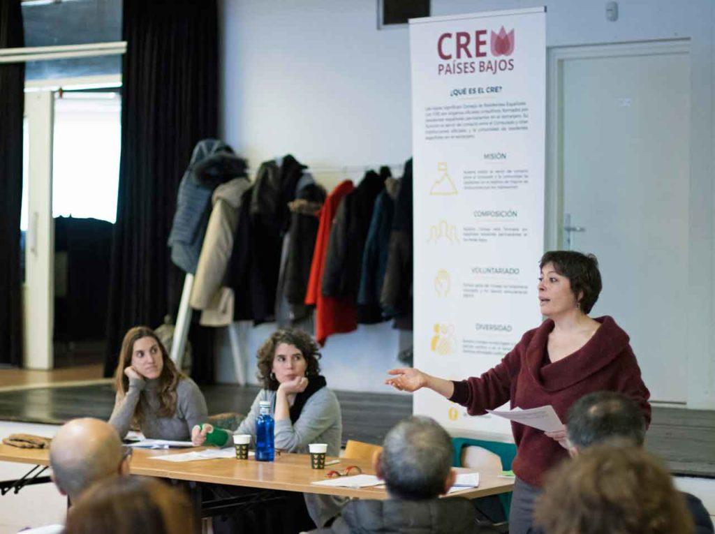 Intervención de María Bruquetas del CRE de Países Bajos.