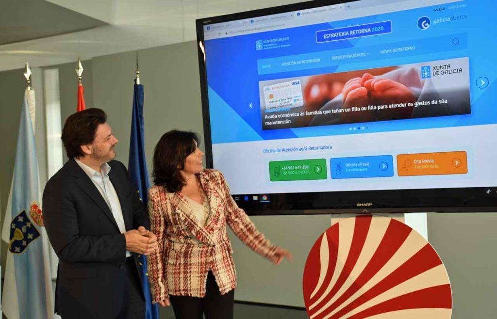 Antonio Rodríguez Miranda y Mar Pereira presentaron el Portal Retorna.