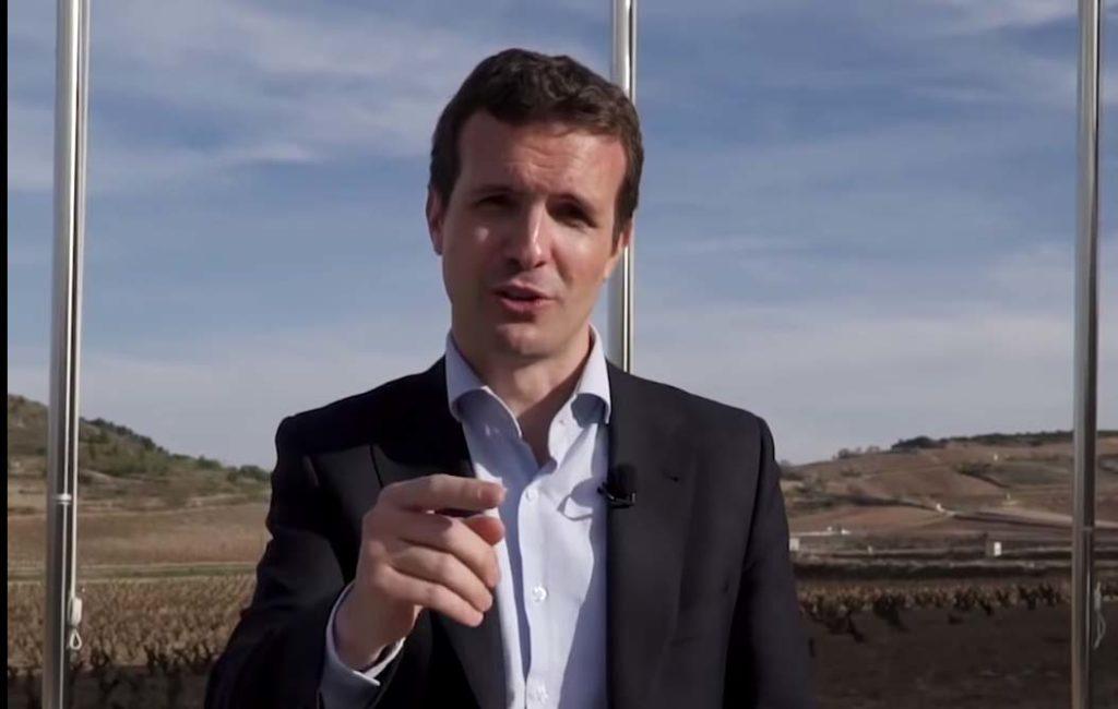 Captura de imagen del vídeo de Pablo Casado dirigido a los residentes en el exterior.