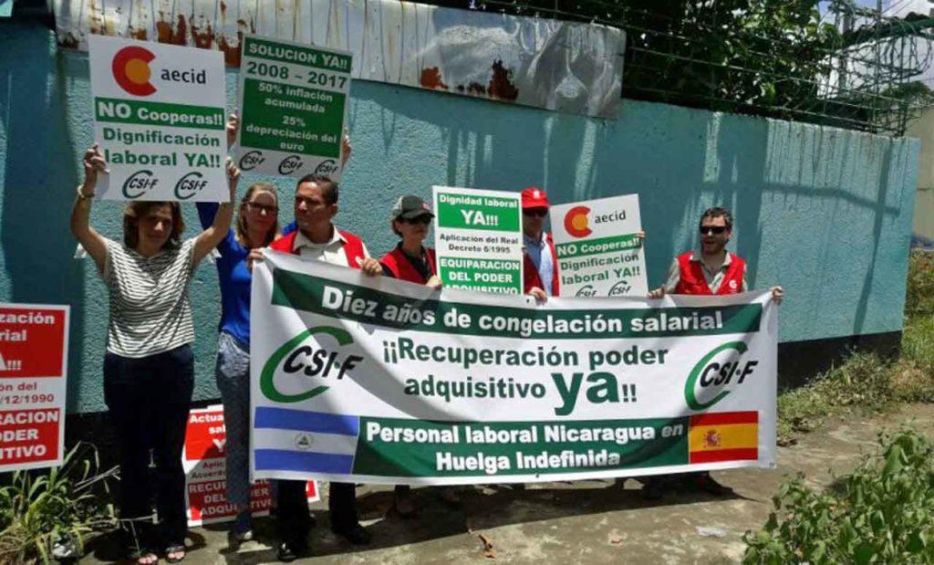 Imagen de archivo de la huelga del personal exterior convocada en octubre de 2017.