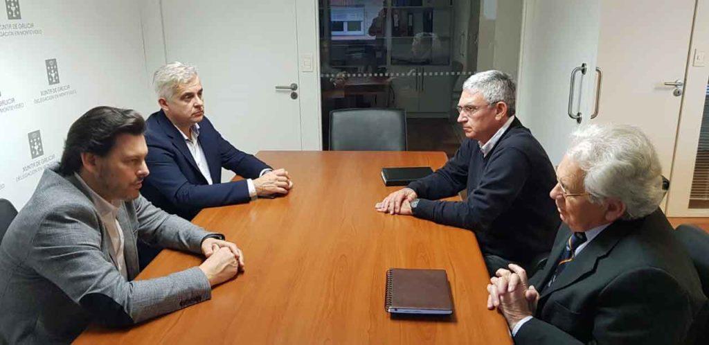 En primer plano, Antonio Rodríguez Miranda y Ángel Domínguez