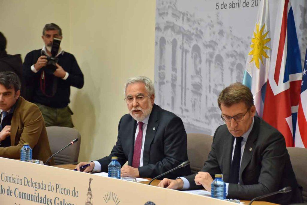 Intervención de Miguel Santalices ante la Comisión Delegada del Consello de Comunidades Galegas.