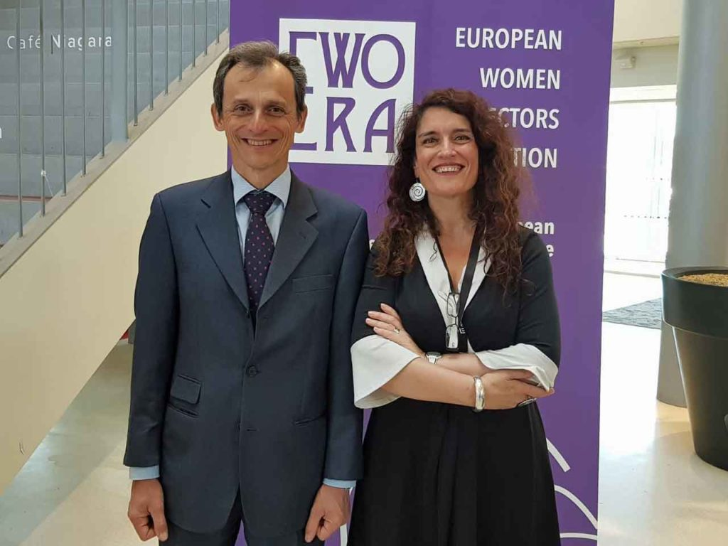 Pedro Duque y Eva Ortega-Paino.