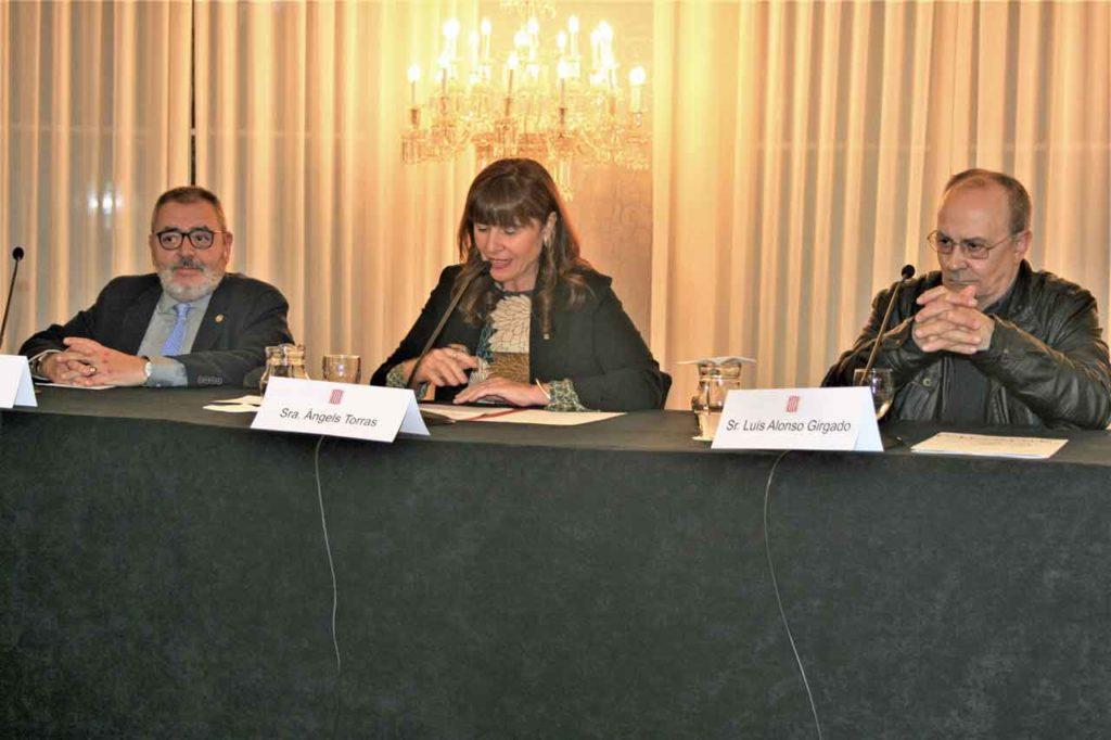 Domingo Balboa de Fegalcat, María Àngels Torras y Luis Alonso Girgado.