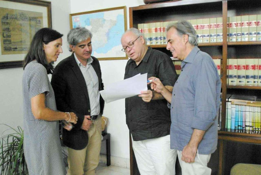 La canciller Ana Sánchez, el cónsul Christian Celdrán, el cónsul general Carlos Pérez-Desoy y el cónsul adjunto Carlos Ruiz.