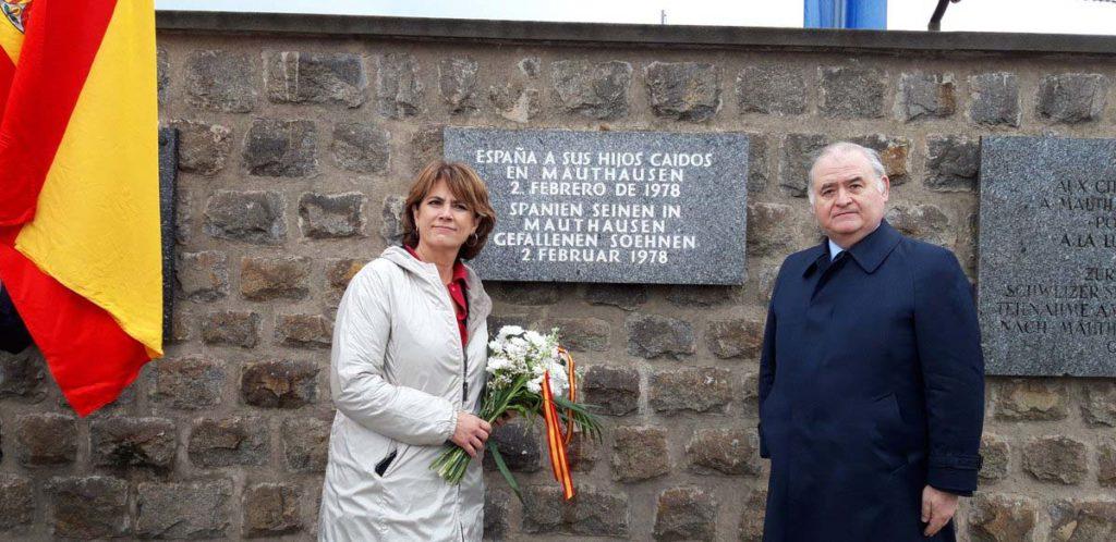 La ministra Delgado efectuó una ofrenda floral ante las placas en memoria de los republicanos españoles en el Muro de las Lamentaciones.