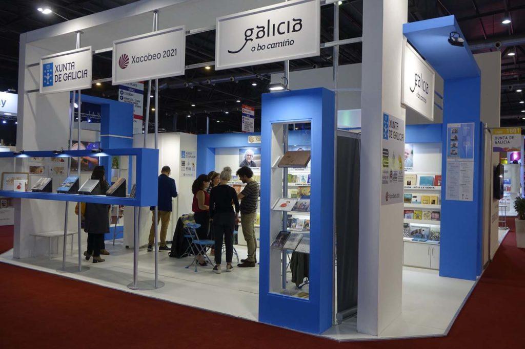 Stand de la Xunta en la Feria Internacional del Libro de Buenos Aires.