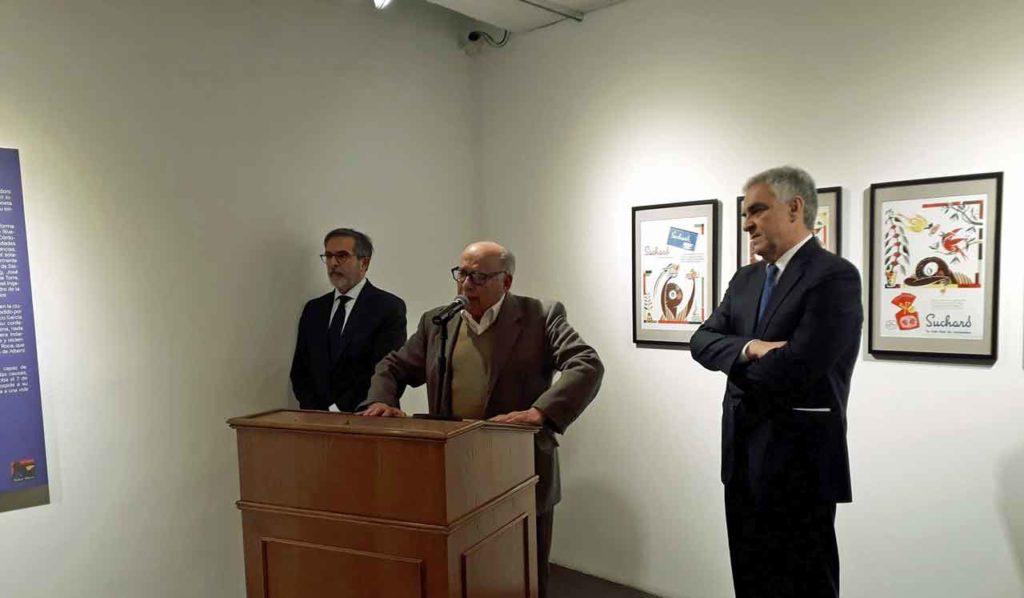 Gil Catalina, Vidaller y Sandomingo Núñez durante la inauguración.