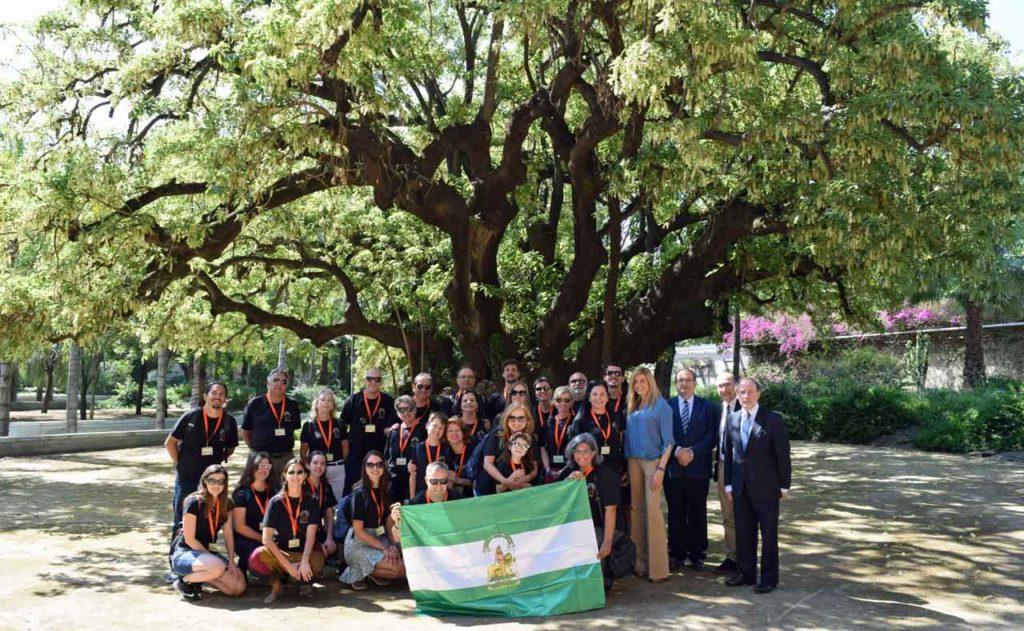 Con representantes de la Junta de Andalucía.