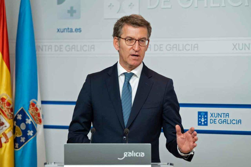 Alberto Núñez Feijóo presentó el anteproyecto de la Ley de impulso demográfico.