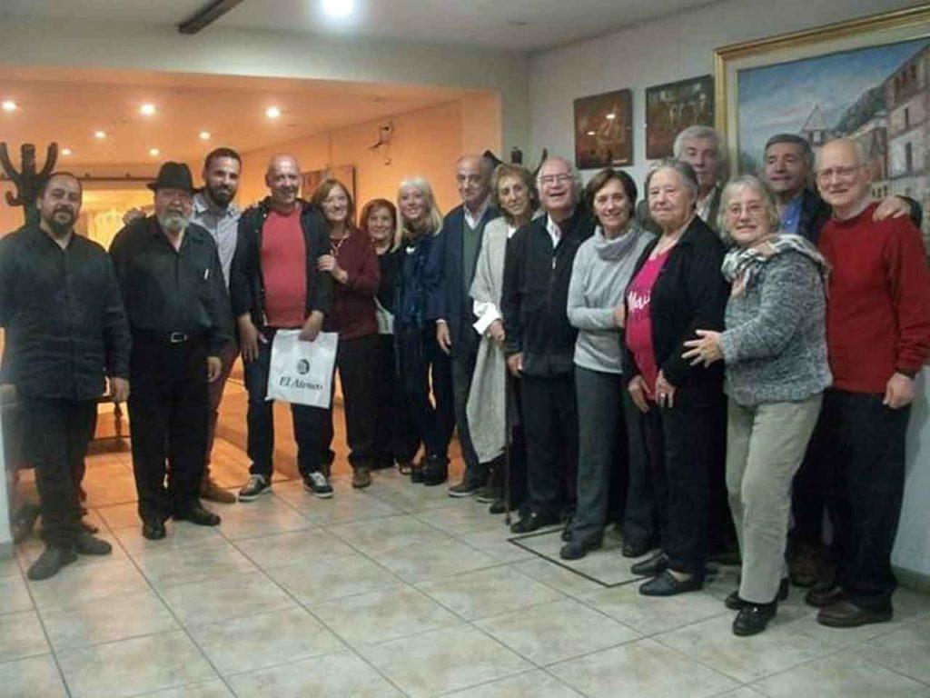 Los directivos del Centro Soriano Numancia compartieron una agradable velada.
