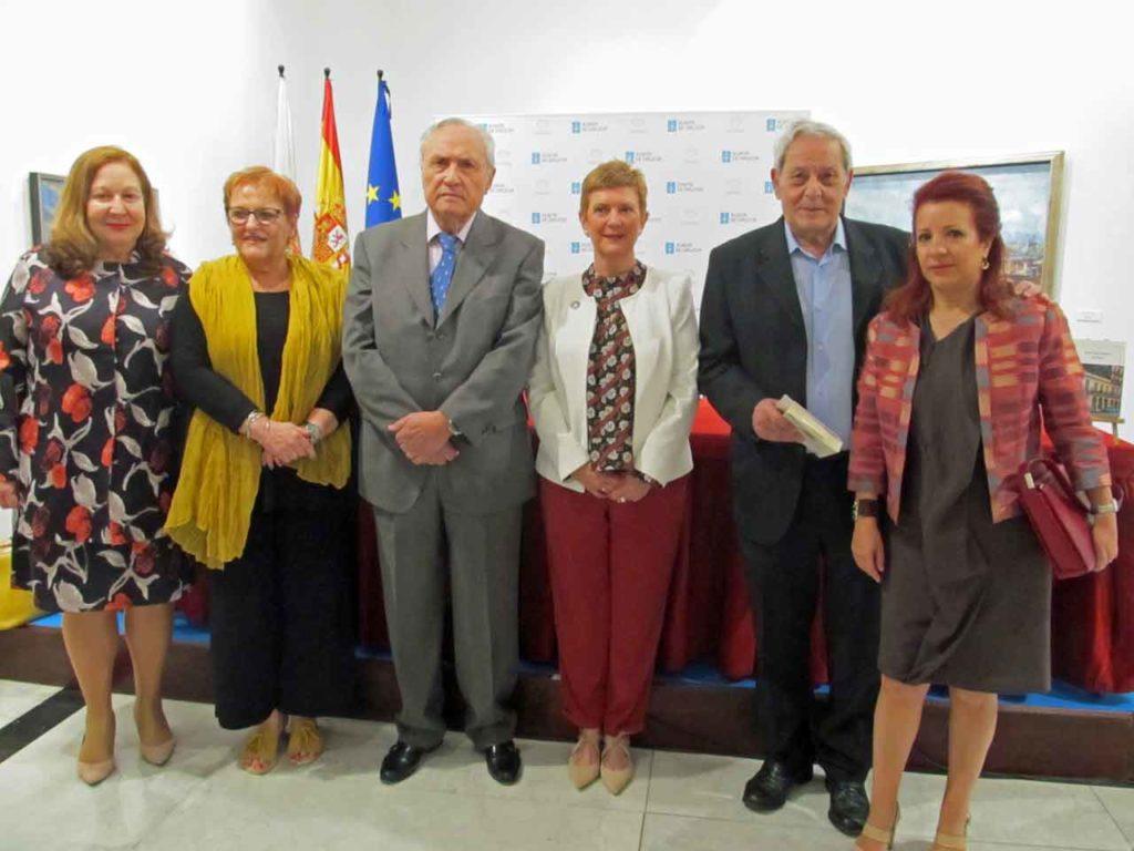 Ángeles Sallé, María Xosé Porteiro, José Ramón Ónega, Consuelo Rumí, Alfonso S. Palomares y Pilar Pin-