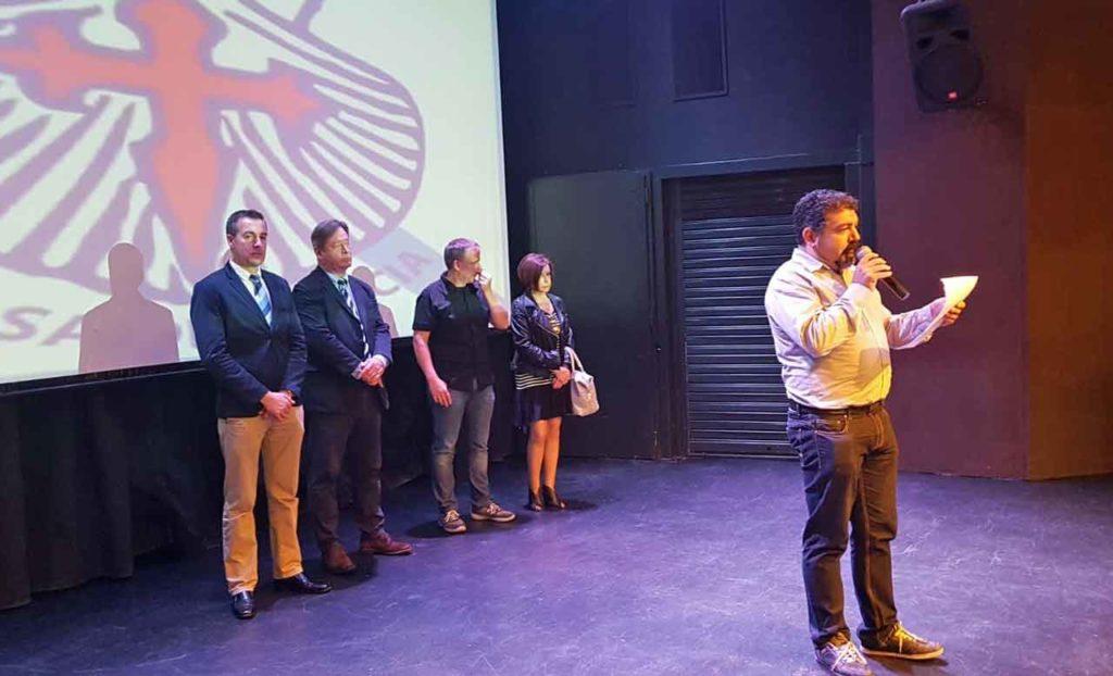 Un momento del acto por el aniversario del Centro Gallego de Ondarroa.