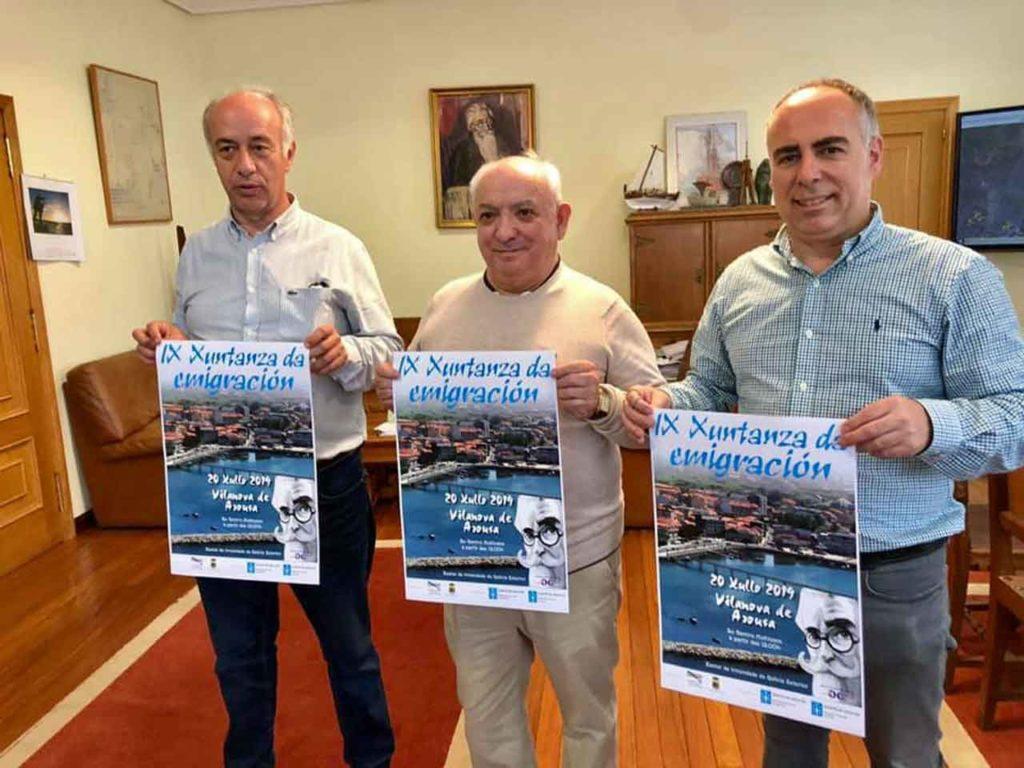 Gonzalo Durán, Ramiro Bieito y otro miembro del consistorio durante la presentación del evento.