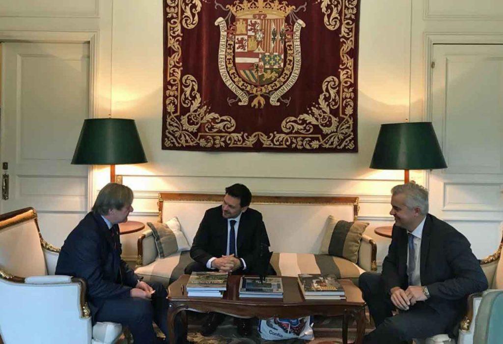 José Javier Gómez-Llera, Antonio Rodríguez Miranda y Alejandro López Dobarro.