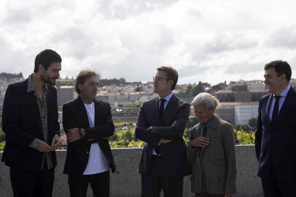 Oliver Laxe, Amador Arias, Alberto Núñez Feijoo, Benedicta Sánchez y Román Rodríguez.