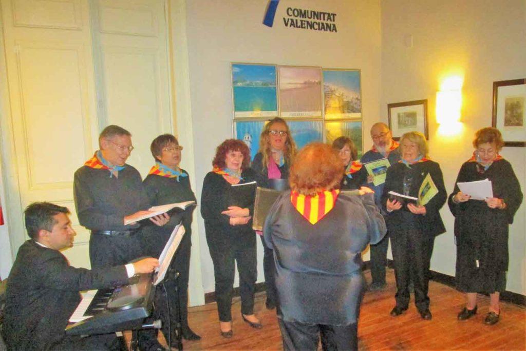 Coro La Senyera, de la Asociación Comunidad Valenciana.