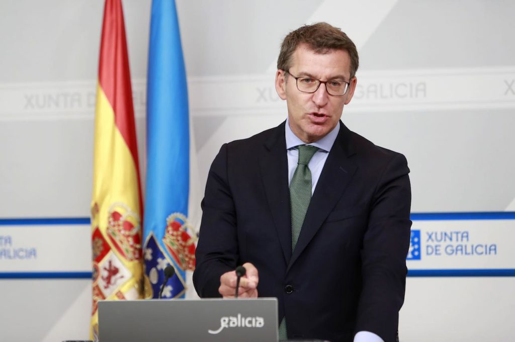 El titular del Gobierno gallego, Alberto Núñez Feijóo, compareció en rueda de prensa para dar cuenta de los asuntos tratados en la reunión del Consello.