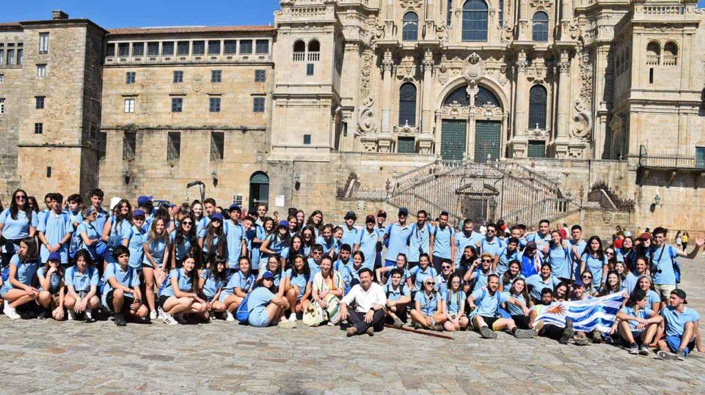 Foto de grupo en la Plaza del Obradoiro.